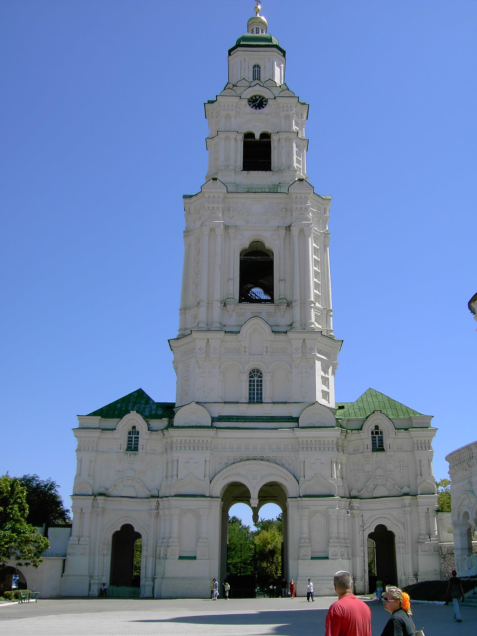 Соборная колокольня с Пречистинскими воротами - г. Астрахань, Кремль